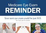 eye exam reminder postcard