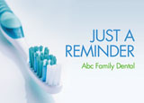 Dental Recall Postcards - Family Dentist Design