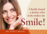 family dentistry direct mail ad