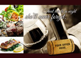 fine dining restaurant post card mailer