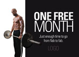 fitness club promotional idea