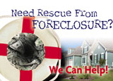 foreclosure promotion with direct mail postcards
