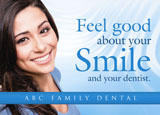 general dentistry postcard ad