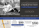 general dentistry postcard design