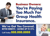 group health insurance postcard