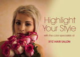hair salon advertising post card