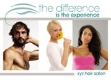 hair salon promotional mailer idea