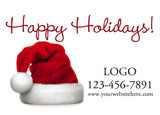 holiday advertising postcard example