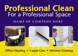 home cleaning service marketing postcard idea