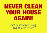 house cleaning service marketing postcard idea