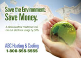 hvac advertising ideas postcard