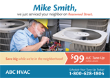 hvac advertising example designs