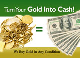 jeweler cash for gold advertising concept