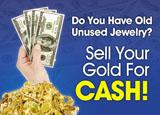 jeweler gold buying marketing postcard sample