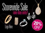 jewelry sale postcard