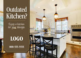 kitchen home remodeling post card