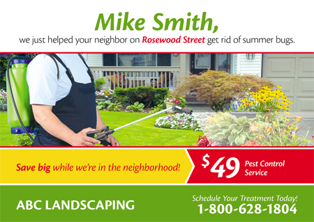 27 Brilliant Landscaper/Lawn Care Direct Mail Postcard Advertising ...