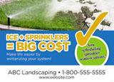 lawn maintenance postcard