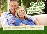 lawn service postcard