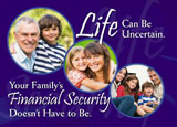 life insurance postcard example