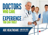 medical services practice marketing postcard sample