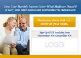 medicare supplement advertising postcard