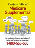 medicare supplement insurance postcard