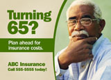 medicare supplement marketing postcard