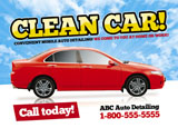 mobile auto detailing postcard sample