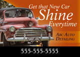 mobile auto detailing promotional mailer