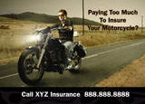 motorcycle insurance postcard sample