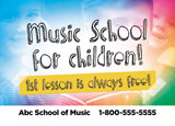 music school postcard ideas