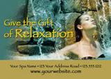 nail and tanning salon marketing postcard