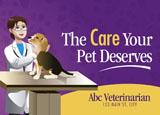 neighborhood animal hospital promotional mailer example