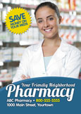 neighborhood pharmacist marketing postcard idea