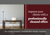 office cleaning marketing postcard design