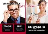 optometrist postcard example