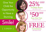 Orthodontic Dental Office Postcards