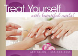 pampering spa marketing postcard design