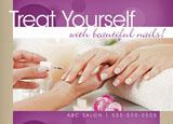 pampering spa marketing postcard design