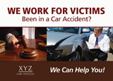 personal injury lawyer marketing postcard