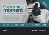 photographer mail piece design