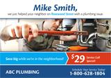plumbing company postcard design