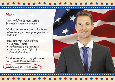 8 Brilliant Politician Direct Mail Postcard Examples For