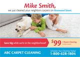 postcard design for carpet cleaning