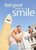 postcard for generating new cosmetic dental patients