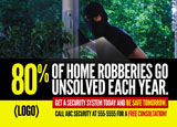 security system advertising postcard example