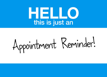 7 Brilliant Appointment Reminder Direct Mail Postcard Examples – Reminder Card Template