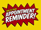 appointment reminder card sample