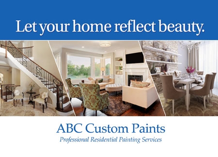 Residential Painter Advertising Post Card